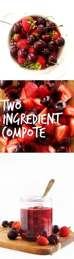 PERFECT Fruit compote, adaptable by season! Perfect for topping waffles, pancakes, french toast and more. #vegan #glutenfree