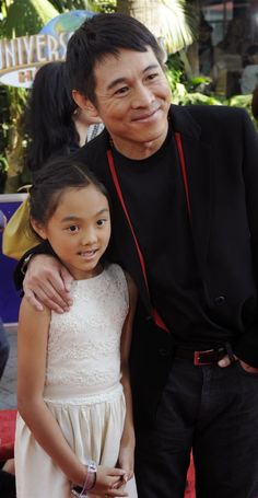 """Jet Li, a cast member in the motion picture fantasy thriller """"The Mummy: Tomb of the Dragon Emperor"""", attends the premiere of the film with his daughter Jane in Los Angeles on July (UPI Photo/Jim Ruymen) Jet Li, Claudia Lars, The Expendables, Martial Artist, Jackie Chan, Bruce Lee, My Crush, Perfect Man, Emperor"""