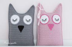 Prinsessajuttu: Lomalla virkattua Crochet Toys, Knit Crochet, Crafts To Do, Washing Clothes, Crochet Patterns, Owl, Throw Pillows, Blanket, Knitting