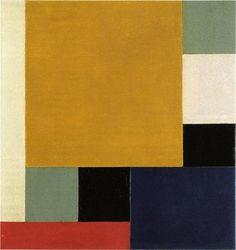 """peinture abstraite hollandaise : Theo van Doesburg, 1922, """"composition XXII"""", 1920s, géométrique, carré"""