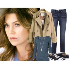 """""""Get the Meredith Grey look"""" by portrait-of-a-girl on Polyvore"""