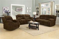 Weissman Motion Brown Velvet Living Room Set