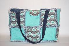 Rag Quilt purse, Rag quilt diaper bag, Denim handbag, Denim Purse, Diaper Bag, Tote, Made By Prinilla by Prinilla on Etsy