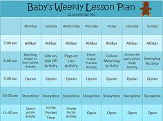 Ideas, calendars for homeschooling months and months. Created by a Muslim homeschool mom. Baby Learning Activities, Nanny Activities, Activities For 1 Year Olds, Infant Activities, Baby Poster, Lesson Plans For Toddlers, Tot School, Home Schooling, Apps
