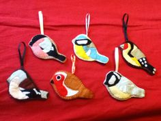Felt British birds- Xmas present for mum
