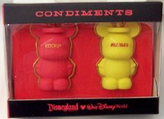 Disney Condiments Ketchup Mustard Vinylmation Pin Set New In Box - GoodNReadyToGo Disney Trading Pins, Disney Pins, Disney Pin Collections, Disneyland Resort, Mickey Ears, Ketchup, Mustard, 3 D, Holiday