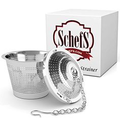 Schefs Multi Cup Premium Tea Infuser - Stainless Steel - Perfect Strainer for Loose Leaf Tea in the Kettle or for a Pitcher of Iced Tea. ** Read more at the image link.