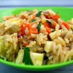 Orzo and Rice Pilaf with Vegetables