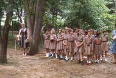 35mm Slide Girl Scout Brownie Troop 1963 Kodachrome