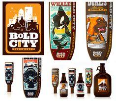 Bold City Brewery logo + packaging 3d Design, Logo Design, Graphic Design, Logo Inspiration, Creative Inspiration, Roots Logo, Brewery Logos, Beer Label, Jacksonville Fl
