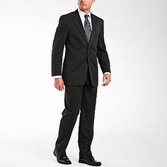 Stafford essentials men 39 s suit separates gray jcpenney for Stafford t shirts big and tall