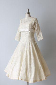 Vintage 1950s Tea Length Wedding Dress