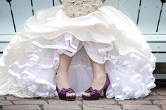 Classic Purple Mississauga, Ontario Wedding| Photo: ten2tenphotography.com