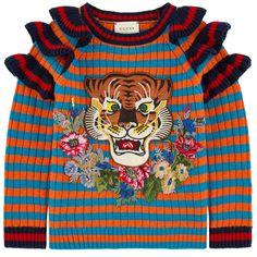 Striped woollen sweater