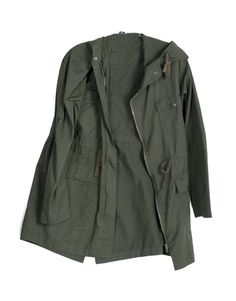 Army Anorak I Pair with harem pants & a cute crop top with knee high boots #2020AVE #anorak #army #olive #outerwear #Fall