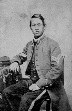 Joseph Pierce. One of the few Chinese that served in the Union Army during the Civil War. Dope jacket.