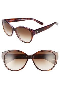 KATE SPADE 'Kiersten' 56Mm Cat Eye Sunglasses. #katespade #
