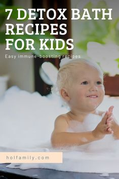 Toxins are everywhere...in the air we breathe, the food we eat, and especially in the viruses that attack our immune systems. When we are in toxic overload, we get sick. The best way to help the body recover quickly from a cold, is to do a detox bath. These 7 cold busting detox bath recipes for kids are gentle yet effective ways to help your little ones when they are not feeling their best. #detoxbath #coldremedy #health #kidshealth #naturalremedies #detox #holfamily Sick Toddler, Sick Baby, Sick Kids, Essential Oils For Autism, Essential Oils Detox, Detox Bath For Colds, Bath Detox, Bentonite Clay Detox Bath, Detox Bath Recipe