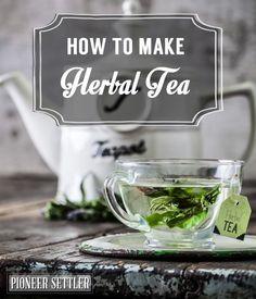 How To Make Herbal Tea   Healthy Homemade Drink Recipe by Pioneer Settler http://pioneersettler.com/make-herbal-tea/