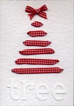 schleifen weihnachtsgeschenke basteln baum rot