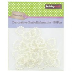 Hobbycraft Embellishments Pearlised Bead Hearts 30Pcs 12mm Ivory - Hobbycraft | Craft Shop, Art Supplies