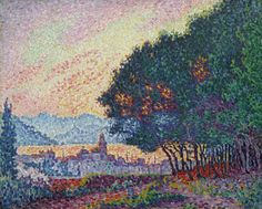 Saint-Tropez, the Town and the Pines, 1902. Paul Signac