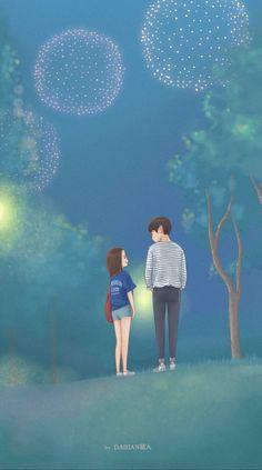 32 Ideas Eye Ilustration Simple Anime Art For 2019 Cute Couple Cartoon, Cute Couple Art, Cute Love Cartoons, Anime Love Couple, Cute Anime Couples, Cover Wattpad, Simple Anime, Cute Couple Wallpaper, Korean Art