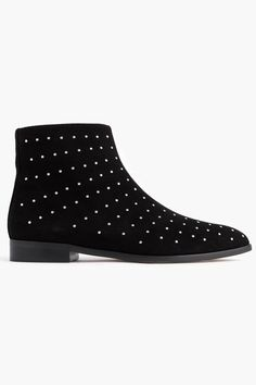 The Studded Wonder Sometimes, simple embellishments can take the plain black bootie to a cosmic next level.  J.Crew Studded Suede Ankle Boots, $278, available at J.Crew.