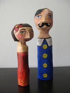 Muñecos en papel maché, por María Tenorio
