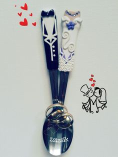 Wedding spoons Spoons, Wedding Styles, Crafts, Manualidades, Handmade Crafts, Craft, Crafting, Wedding Outfits, Spoon