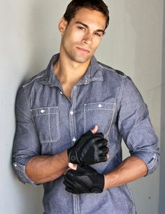 Nick Denbeigh, model/actor- (African American, German, Norwegian, Native American)