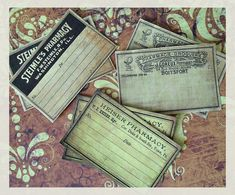 Antiquated Pharmacy Sticker Labels  Set of 3 by BedlamSupplyCo, $2.75