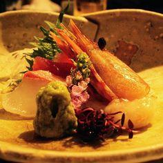 Cada país y su gastronomía <3  #kaiseki #shrimp #wasabi #japanesefood #japon #bonito #contrast #diferente #atami #underwater #flores #colorido by sarahy_ao