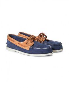 092dea896649af Sperry Two Tone 2 Eye Boat Shoe Navy   Tan Men Store