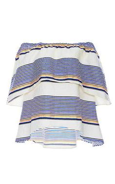 Textured Sunset Stripe Ione Top by Tanya Taylor for Preorder on Moda Operandi