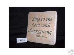Christian Laser Engraved Ceramic Tile Psalm 147:7