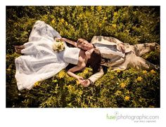 Wedding Photography Pose.....beautiful!! Love this idea, but very few brides will lay down in a field on their wedding day. Too bad because this would be a great shot.