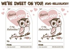 Valentines Day is almost here and I've seen so many cute free printables! Here is a round-up of some of my favorites for you to enjoy.I love these super cute designs from Hello Lucky. The banana is hilarious! See more fun designs and print them here. Looking for grown-up Valentines? Then you'll love this pretty Valentine's Day Card and Coupons by Love Vs. Design This classroom valentine via Crap I've Made is Toad-ally awesome! I'm lo