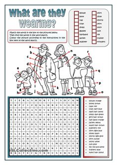 CLOTHES WORD SEARCH