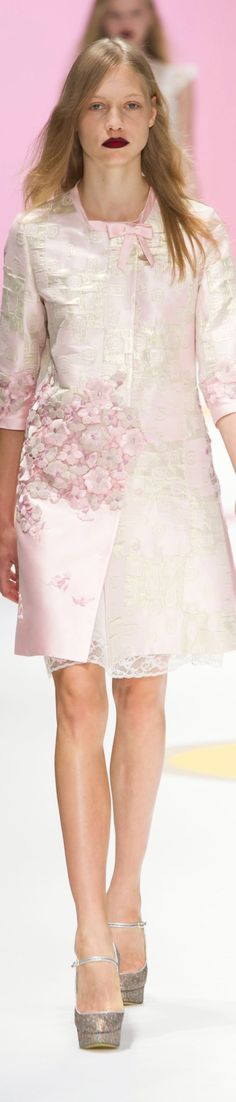 Shiatzy Chen S-16: pink coat with embroidered flowers.