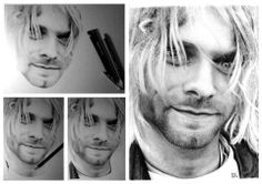 Kurt Cobain Nirvana Art, Kurt Cobain, Im In Love, Comebacks, Music, People, Fictional Characters, Musica, Musik