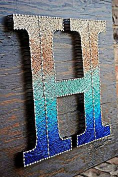 Top Ideas Making String Art Letters Enter Diy - The Commendable Effort Of Making A String Art Based On Some Alphabets This Eye Grabbing Art Requires Proper Training Simply Amazing Idea Of Writing Letter K By Using Strings It Is Looki String Art Letters, Nail String Art, String Crafts, Diy Letters, Crafts To Do, Arts And Crafts, Diy Crafts, Resin Crafts, Decor Crafts