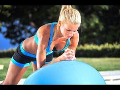 40 min Beginner Total Body Workout W/DB & Stability Ball (Voice Over included) - Fitness Dumbbell Workout, Toning Workouts, Ball Workouts, Workout Regimen, Stability Ball Exercises, Core Stability, Horse Riding Tips, Tight Hip Flexors, Body Fitness