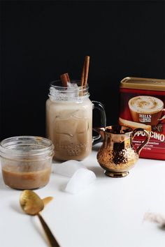 Dive into a glass of this refreshing pick-me-up. The sweet iced coffee uses a homemade condensed coconut milk for extra flavor. Coffee Drink Recipes, Coffee Drinks, Condensed Coconut Milk, Vietnamese Iced Coffee, Ice Milk, Coffee Uses, Keto Cheesecake, Recipes For Beginners, Coconut Sugar
