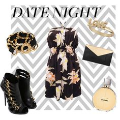 """""""Date Night"""" on Polyvore --Pair this cute sundress with edgy heels for an outfit that is sexy and daring!"""