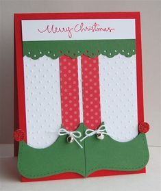 Elf Shoes by mamamostamps - Cards and Paper Crafts at Splitcoaststampers