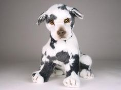 """Approximate Size: 13.8"""" Great Dane Harlequin Dog If this item is not in stock, it may require additional time for fabrication or transport. As all our animals are handmade, sizes and weights are appro"""