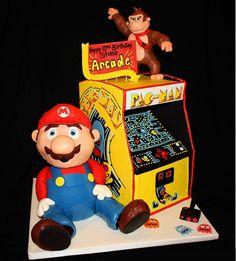 Retro Nintendo Cake. Video Game Cake