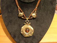 Amulet pomegranate necklace EVIL EYE swarovski by IrinaSmilansky, $25.99