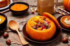 List of Pumpkin Dishes Pumpkin Latte Pumpkin Stuffed picture - part of our huge selection of professional quality pictures at very affordable prices - Whole Food Recipes, Great Recipes, Cooking Recipes, Cooking Tips, Pumpkin Dishes, Pumpkin Butter, Eat To Live, Diy Food, Raw Vegan